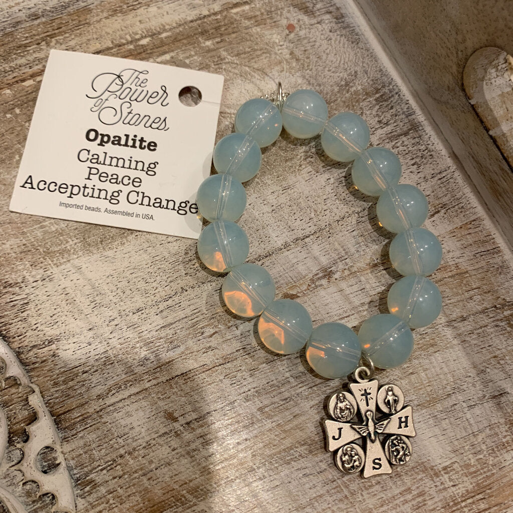 Power Beads By Jen Bracelet Opalite Calming Peace Accepting Change