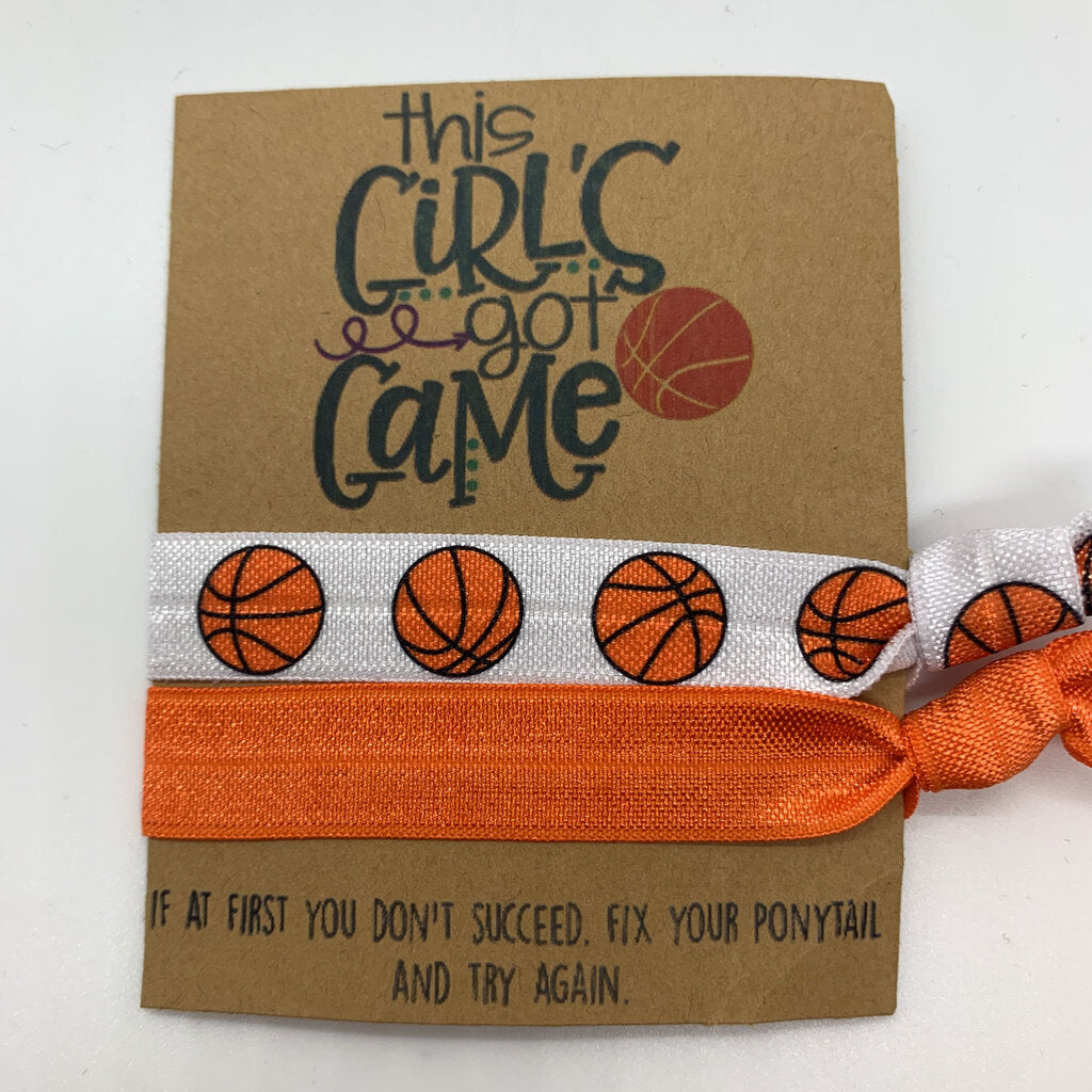 Wishlet Hair Ties This Girls Got Game Basketball