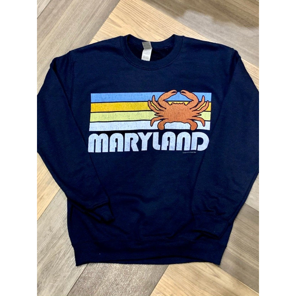 Maryland Retro Crab Sweatshirt