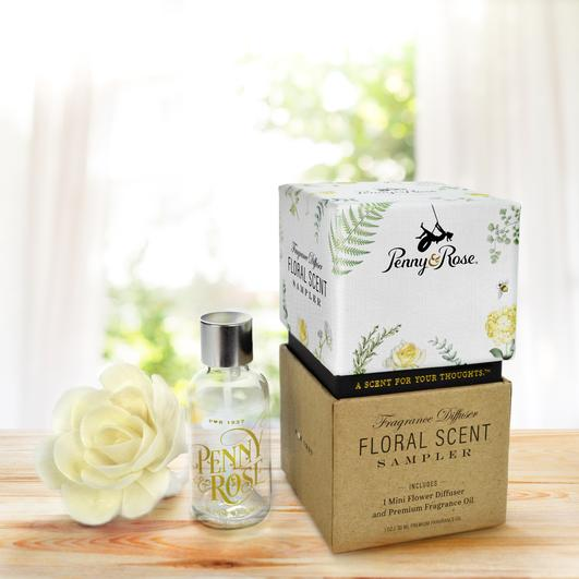 Penny & Rose Merry Mint Floral Diffusers