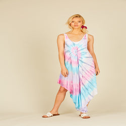 Joy Tie Dye Swing Tank Dress