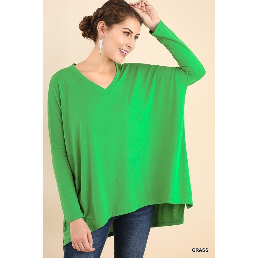Camilla High Low V Neck Top