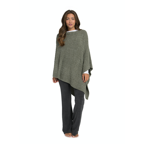 Barefoot Dreams Cozy Chic Cable Poncho