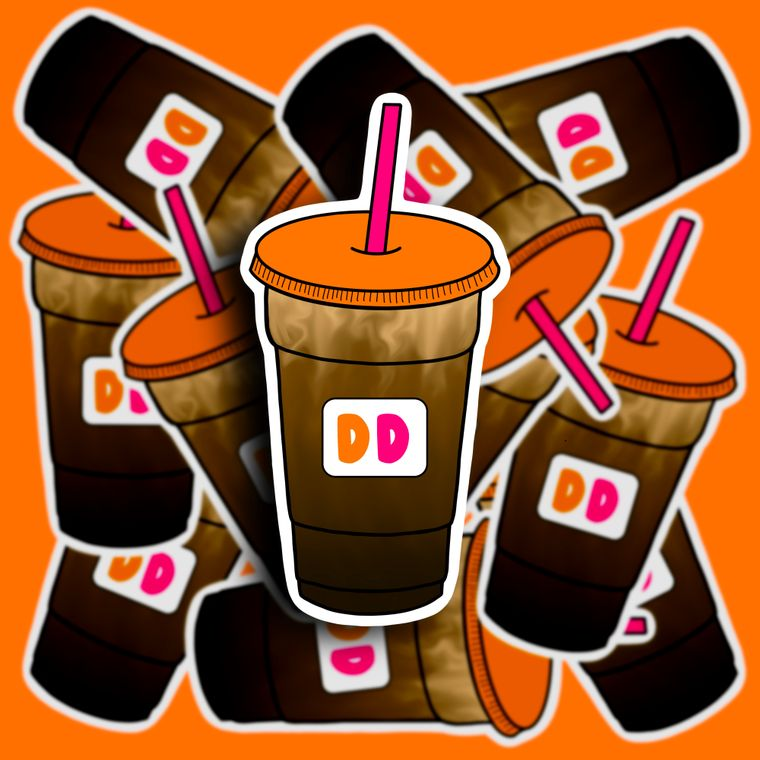 Dunkin Donuts Iced Coffee Sticker