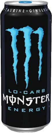 Monster Lo Carb Energy Blue Can 16 oz