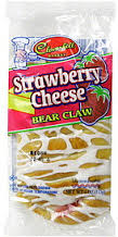 Cloverhill Strawberry Cheese Bear Claw 4 oz