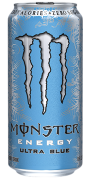 Monster Zero Ultra Blue Can 16 oz