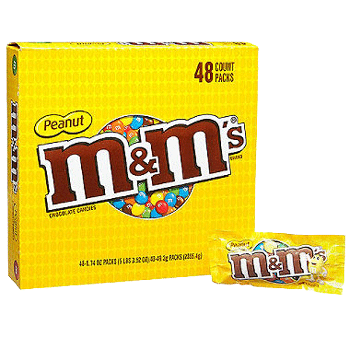 M&M's Peanut 1.74 oz - 48 pk