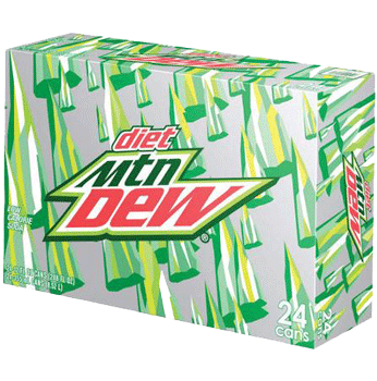 Diet Mountain Dew Can 12 oz 24 pk