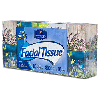 Member's Mark Soft & Strong Facial Tissues 160 2-Ply Tissues 1 Box