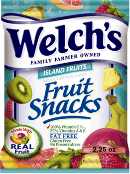 Welch's Fruit Snacks Island Fruits 2.25 oz