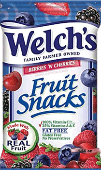 Welch's Fruit Snacks Berries N Cherries 1.55 oz