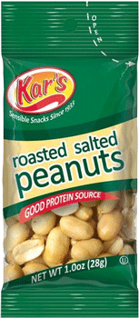 Kar's Roasted Salted Peanuts 1 oz