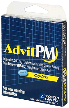 Advil PM 4 Tablets