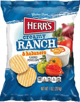 Herr's Creamy Ranch & Habanero Chips 1 oz