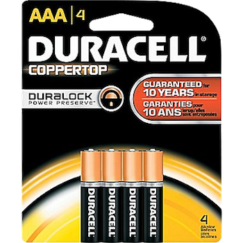 Duracell Batteries AAA 4 ct