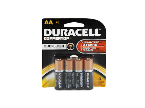 Duracell Batteries AA 4 ct