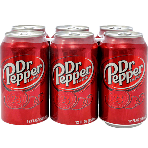 Dr. Pepper Can 12 oz 6 pack