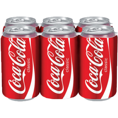 Coke Can 12 oz 6 pk