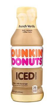 Dunkin Donuts Iced Coffee French Vanilla 13.7 oz