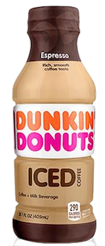 SOLD OUT Dunkin Donuts Iced Coffee Espresso 13.7 oz