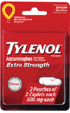 Tylenol Extra Strength 2 pouches of 2 caplets 500mg