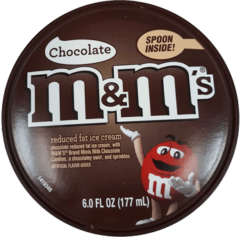 M&M's Reduced Fat Ice Cream Cup 6 oz