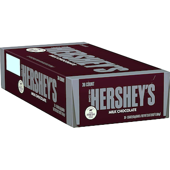 Hershey's Chocolate Bar 1.55 oz - 36 ct