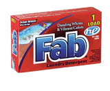 Fab Laundry Detergent Powder Ocean Breeze 1 Load 1 oz