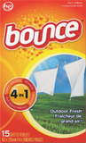 15 ct Bounce Dryer Sheets Outdoor Fresh