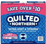 LIMIT 1- 16pk Jumbo Rolls Quilted Northern Ultra Soft & Strong Toilet Paper