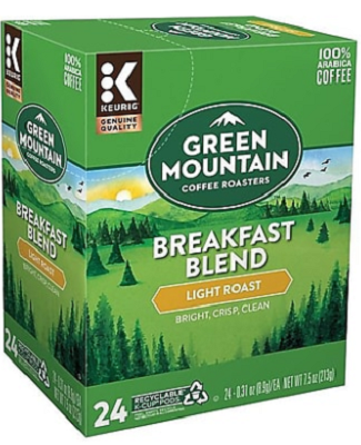 Green Mountain Coffee Breakfast Blend K-Cup 24ct