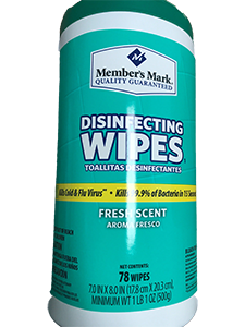 LIMIT 1 Member's Mark Disinfecting Wipes Fresh Scent