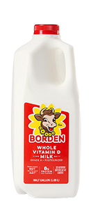 Borden Homogeneous Whole White Milk Half Gallon