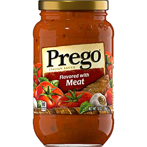 Prego Spaghetti Sauce With Meat 14oz