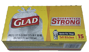 Glad Tall Kitchen Bags 15ct
