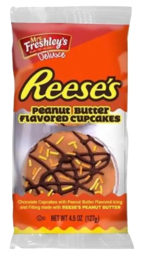 Mrs. Freshley's Reese's Peanut Butter Cupcakes 4.5 oz FOA