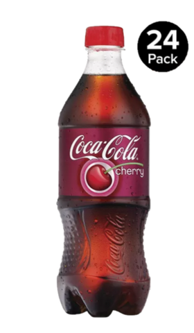 Cherry Coke Bottle 20 Oz Case of 24