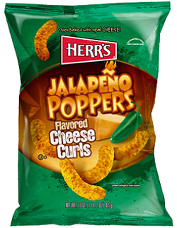 Herr's Jalapeno Poppers Cheese Curls 1 oz