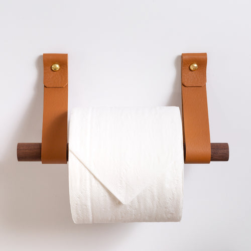 Toilet Paper Holder Kit [Round End]