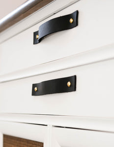 Leather Drawer Handle [Flat End]