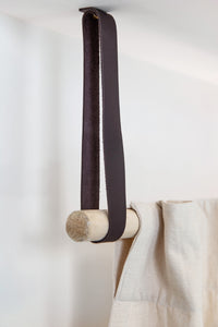 Leather Ceiling Mounted Strap [Set of 2]