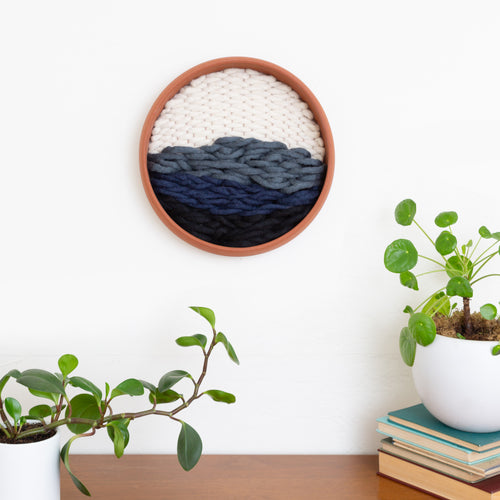 RIVER- Terracotta & Fiber Wall Sculpture