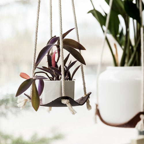 Small Leather Plant Hammock