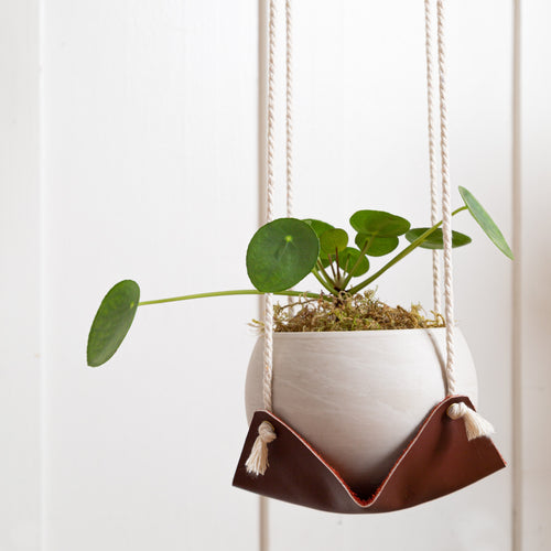 Large Leather Plant Hammock