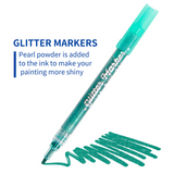 Razanarts Glitter Paint Markers,Drawing Pens,Water-Based,12 - RazanArt