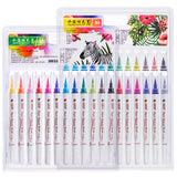 RazanArts - Watercolor Brush Pens Washable Color Marker for Soft Calligraphy Painting, Art Markers,Calligraphy Pens - RazanArt