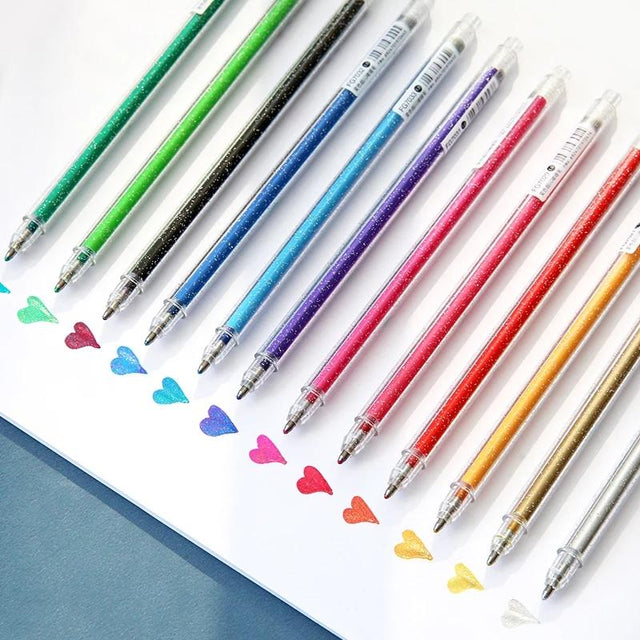 Sparkle And Shine Pens (Pack of 8 Multi-Colors) - RazanArt