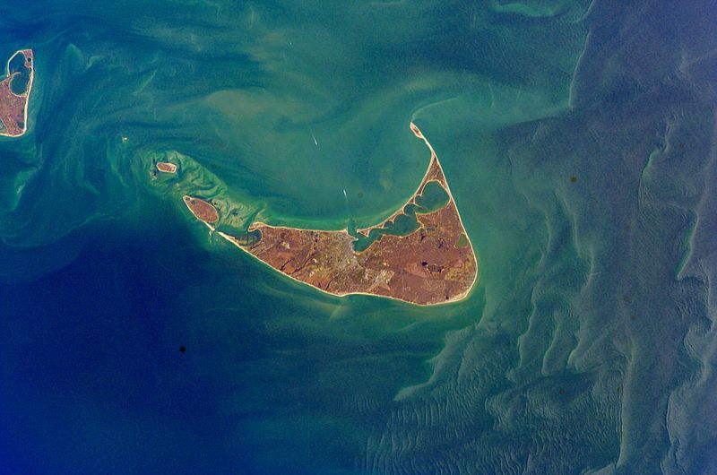 View from the sky of Nantucket Island