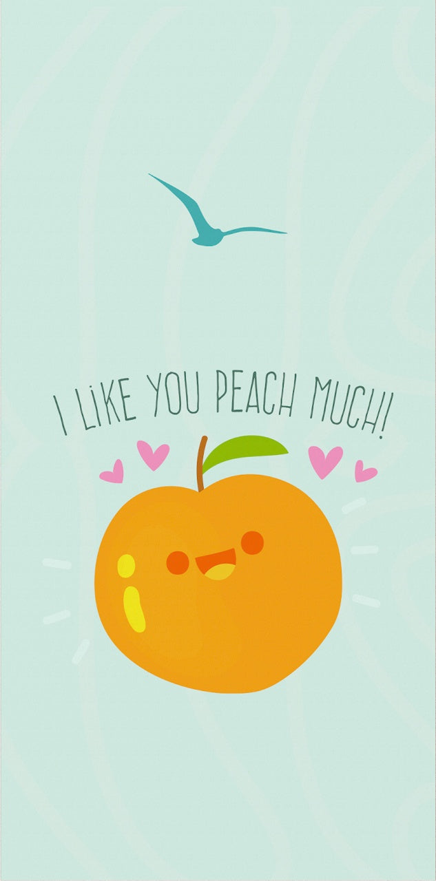 Valentine's Card with a peach